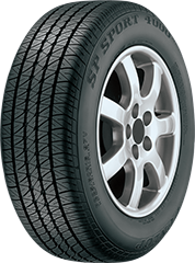 Dunlop SP Sport® 4000® DSST® CTT™ tire image showing tread design