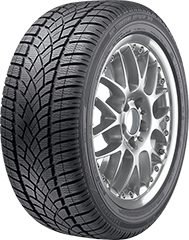 Dunlop SP Winter Sport 3D® tire image showing tread design