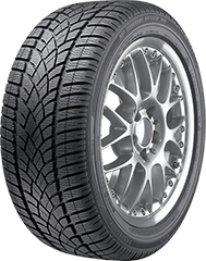Dunlop SP Winter Sport 3D DSST® ROF tire image showing tread design