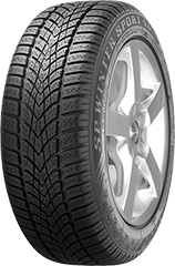 Dunlop SP Winter Sport 4D® tire image showing tread design