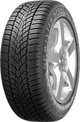 Dunlop SP Winter Sport 4D® ROF tire image showing tread design